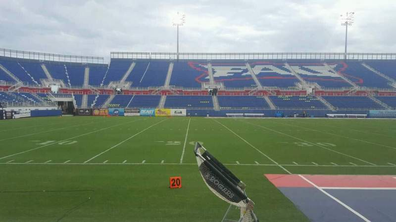 Seating view for FAU Stadium Section 108 Row B Seat 4