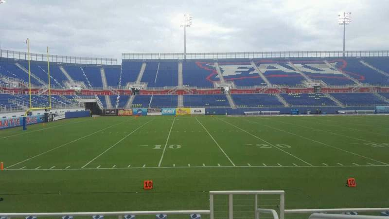 Seating view for FAU Stadium Section 109 Row F Seat 1