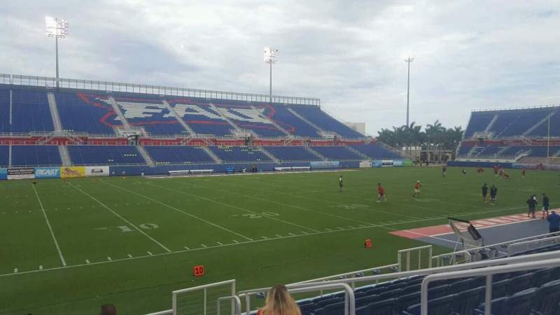 Seating view for FAU Stadium Section 110 Row F Seat 5
