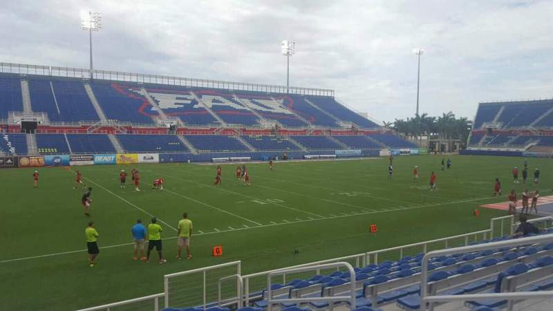 Seating view for FAU Stadium Section 111 Row J Seat 5