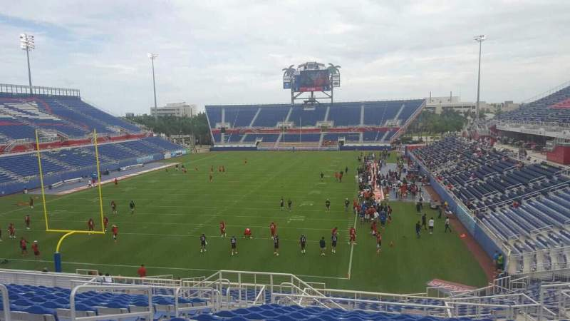 Seating view for FAU Stadium Section 215 Row P Seat 21