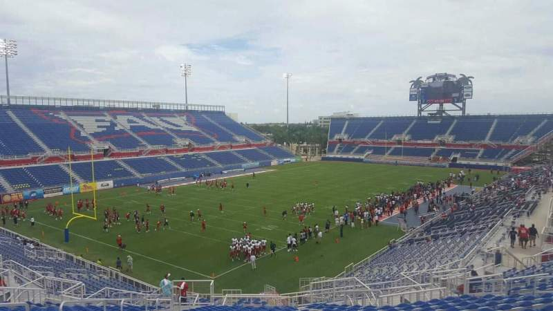 Seating view for FAU Stadium Section 213 Row V Seat 18