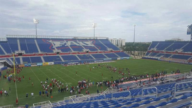 Seating view for FAU Stadium Section 211 Row Z Seat 12