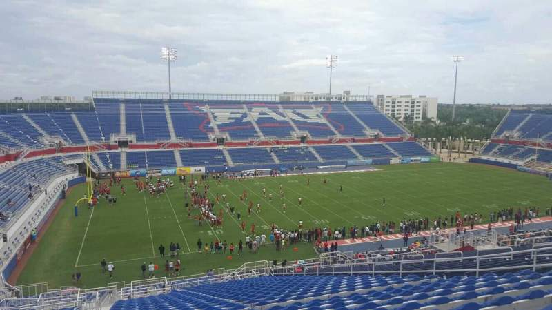 Seating view for FAU Stadium Section 210 Row GG Seat 17