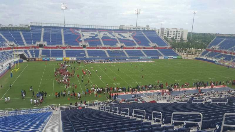 Seating view for FAU Stadium Section 210 Row HH Seat 8