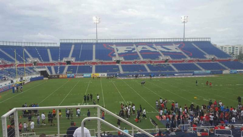 Seating view for FAU Stadium Section 208 Row D Seat 16