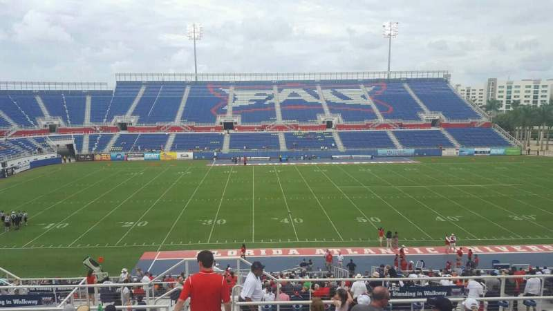 Seating view for FAU Stadium Section 106 Row R Seat 15