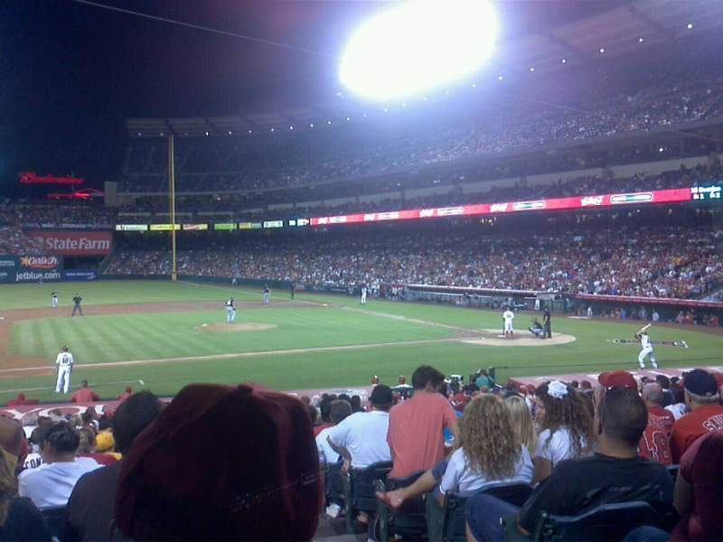 Seating view for Angel Stadium Section F111 Row x Seat 18