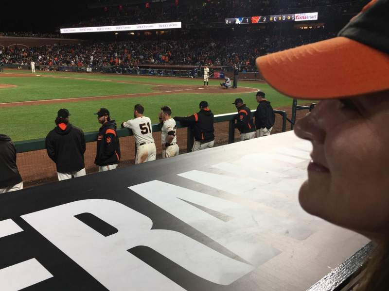 Seating view for AT&T Park Section 123 Row A Seat 6