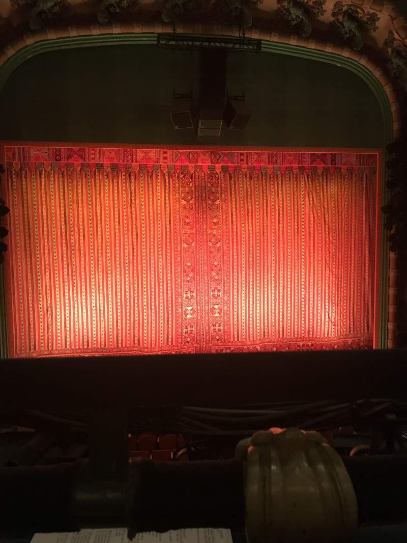 Seating view for New Amsterdam Theatre Section Mezzanine C Row AA Seat 116