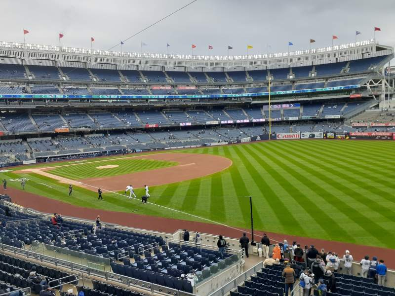 Seating view for Yankee Stadium Section 210 Row 1 Seat 1