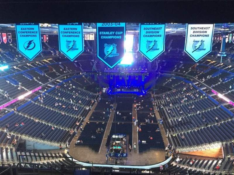 Seating view for Amalie Arena Section 308 Row P Seat 19