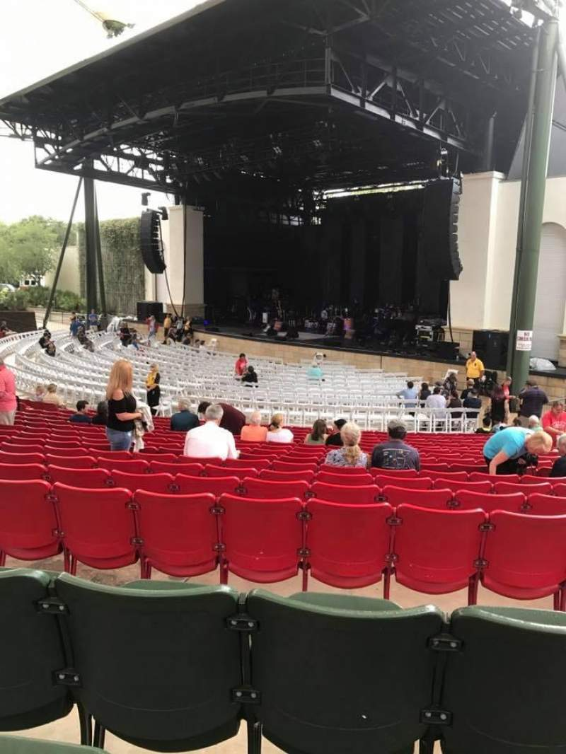Seating view for St. Augustine Amphitheatre Section 201 Row Q Seat 55