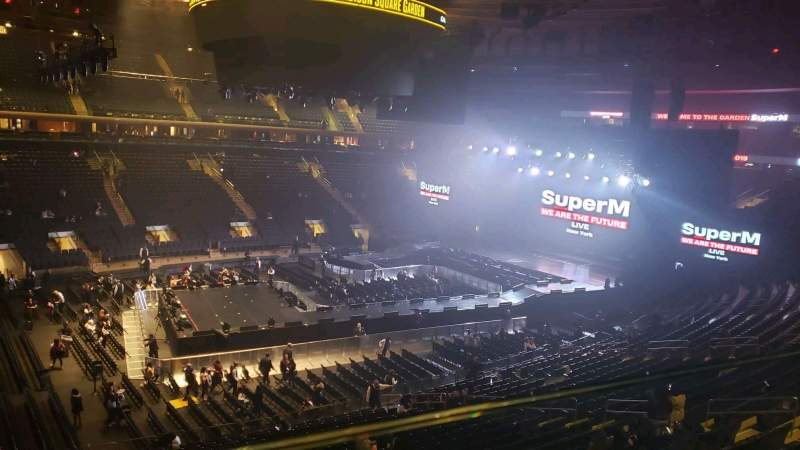 Seating view for Madison Square Garden Section 209 Row 1 Seat 12