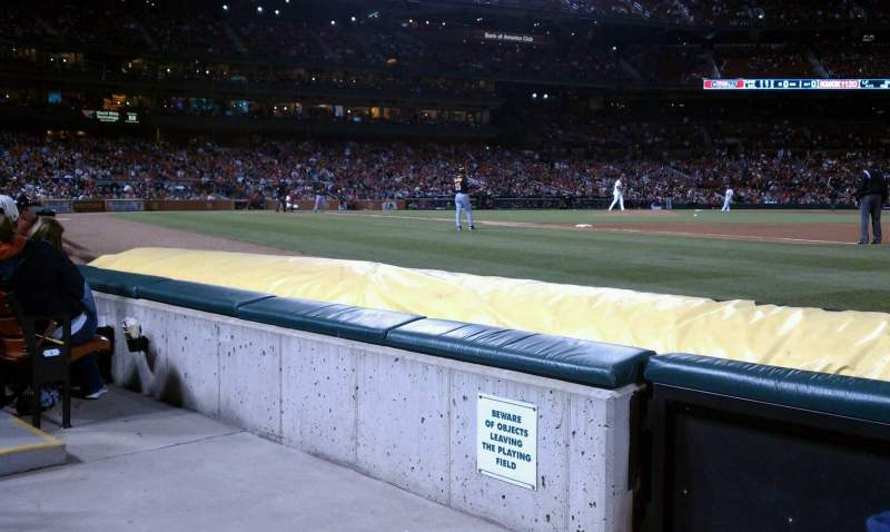 Seating view for Busch Stadium Section Dugout Box 139 Row C Seat 2