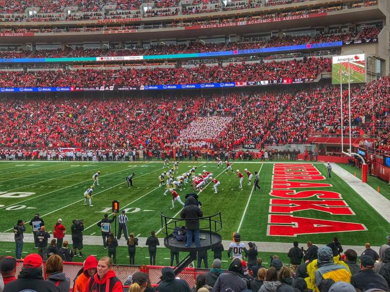 Seating view for Memorial Stadium (Lincoln) Section 21 Row 15 Seat 26
