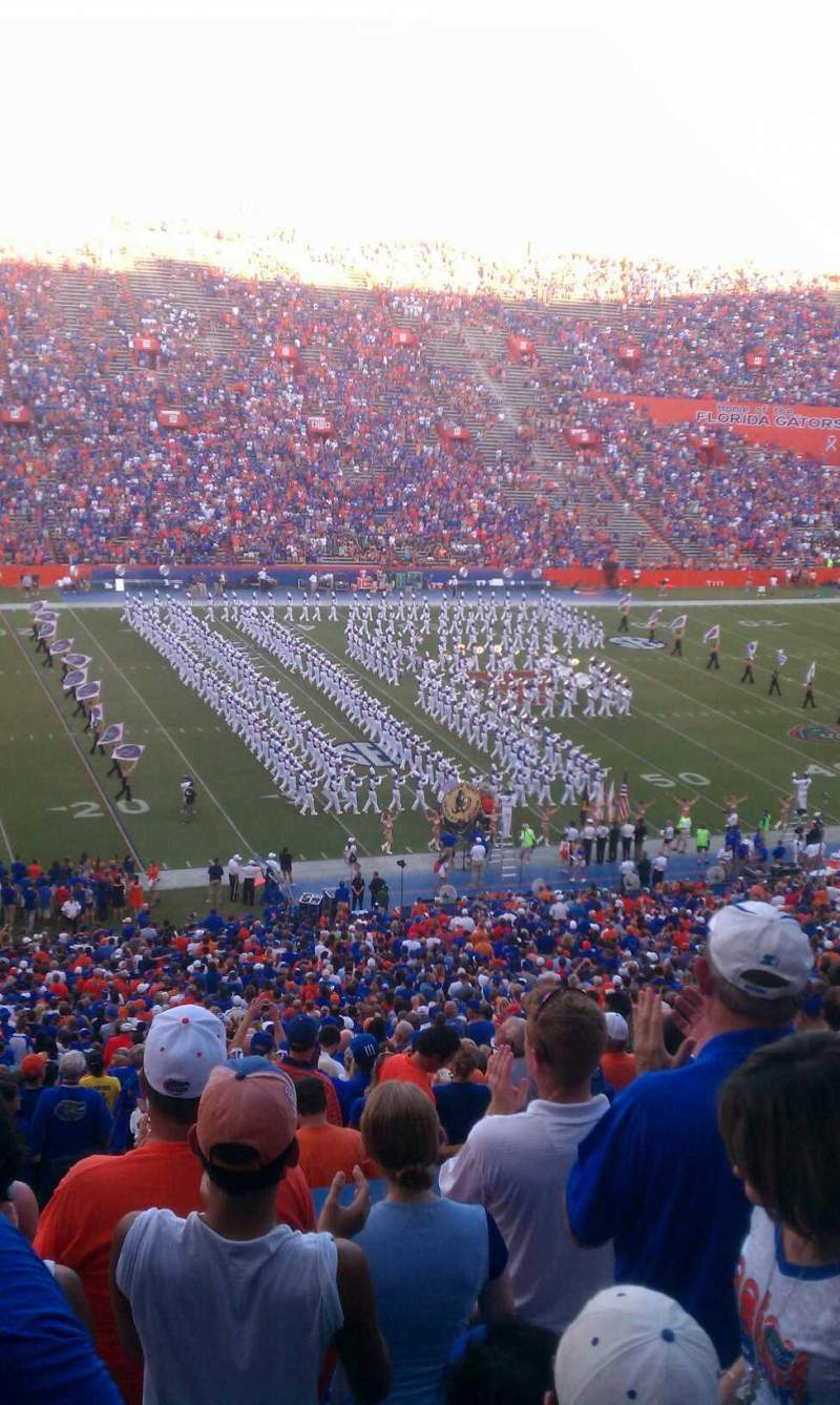 Seating view for Ben Hill Griffin Stadium Section 15 Row 71 Seat 18
