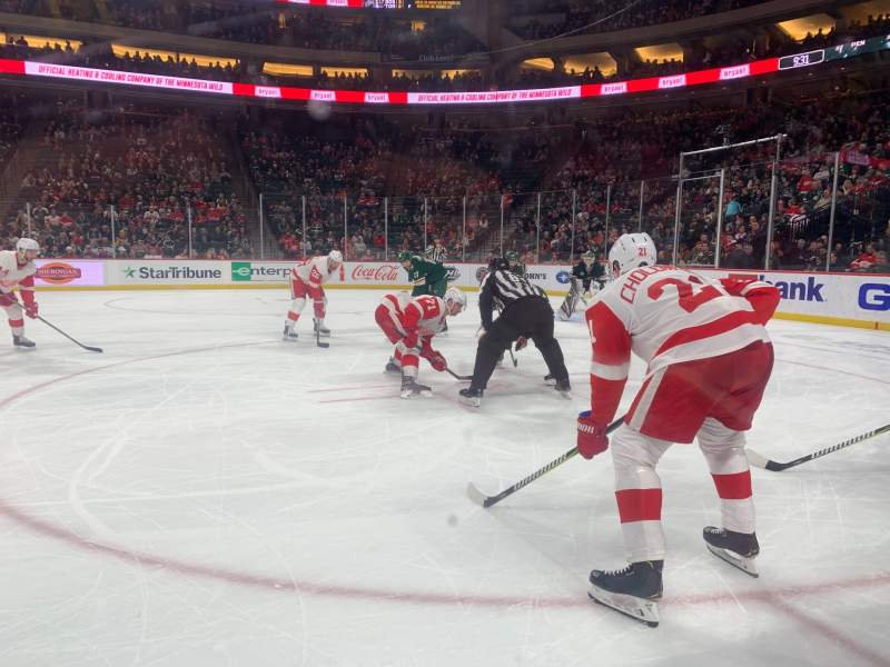 Seating view for Xcel Energy Center Section 106 Row 1 Seat 7,8