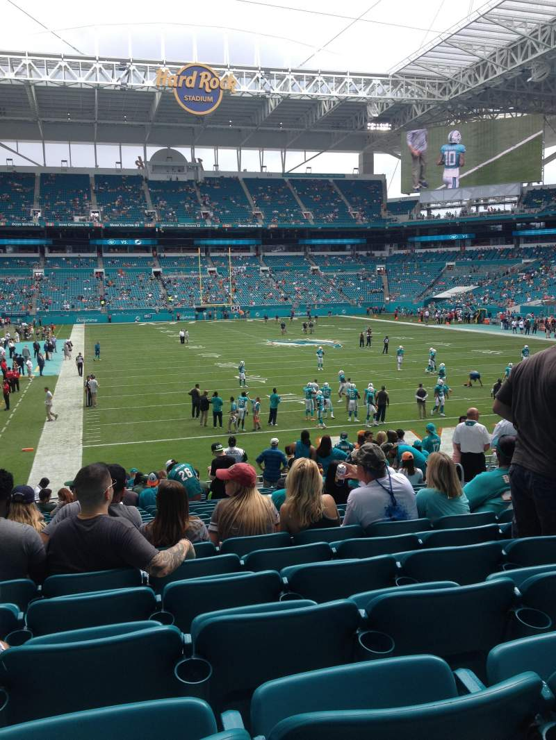 Seating view for Hard Rock Stadium Section 106 Row 20 Seat 11