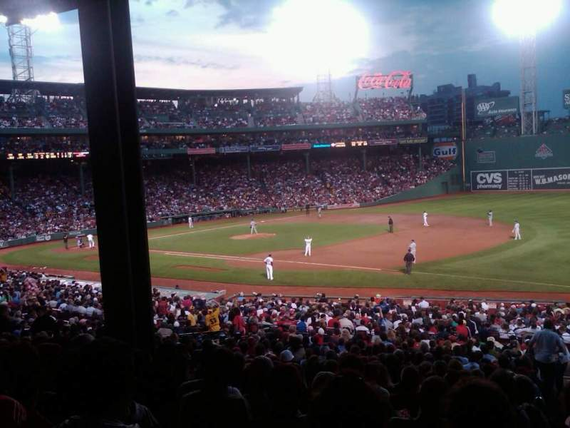 Seating view for Fenway Park Section Grandstand 13 Row 8 Seat 14