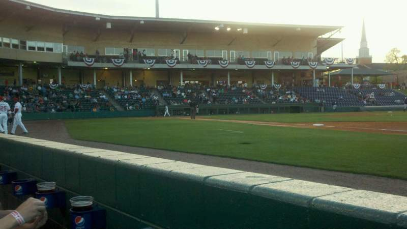 Seating view for Fluor Field Section 115 Row a Seat 8
