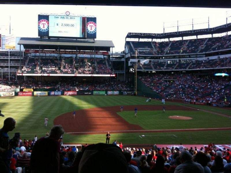 Seating view for Globe Life Park in Arlington Section 118 Row 34 Seat 11