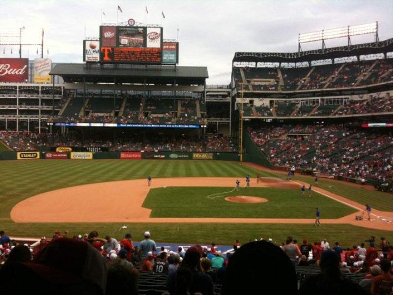 Seating view for Globe Life Park in Arlington Section 120 Row 33