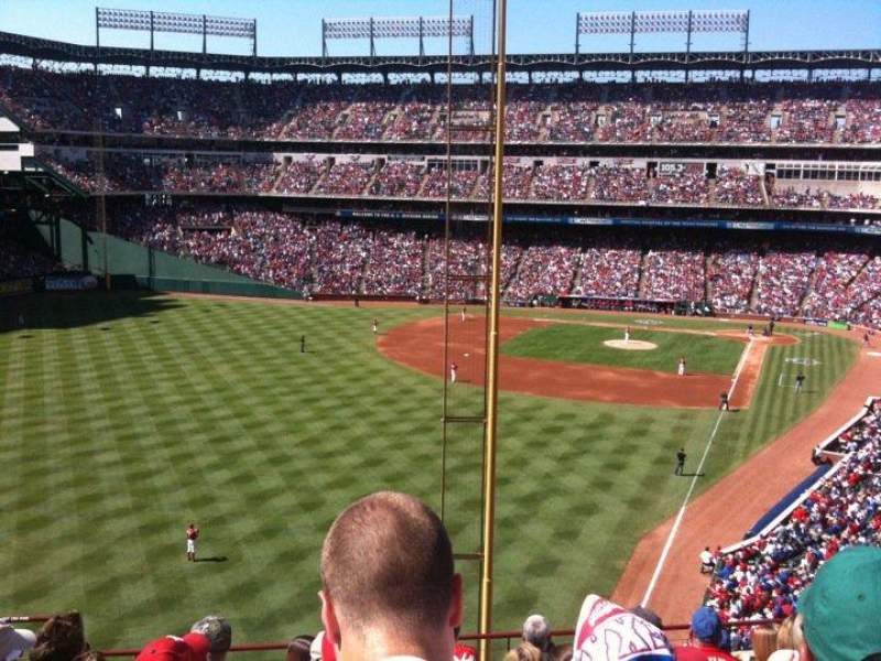 Seating view for Globe Life Park in Arlington Section 208 Row 8