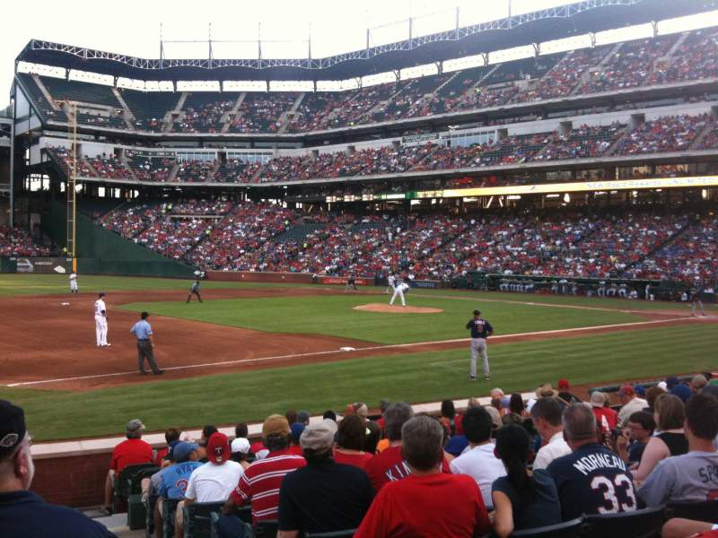 Seating view for Globe Life Park in Arlington Section 16 Row 8 Seat 16
