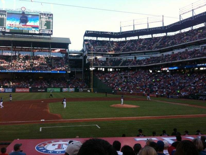 Seating view for Globe Life Park in Arlington Section 19 Row 13 Seat 1