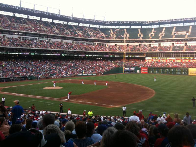 Seating view for Globe Life Park in Arlington Section 36 Row 31