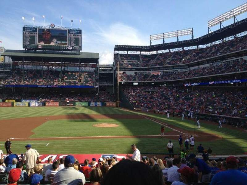 Seating view for Globe Life Park in Arlington Section 20 Row 25 Seat 7