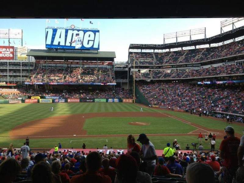 Seating view for Globe Life Park in Arlington Section 120 Row 34 Seat 5