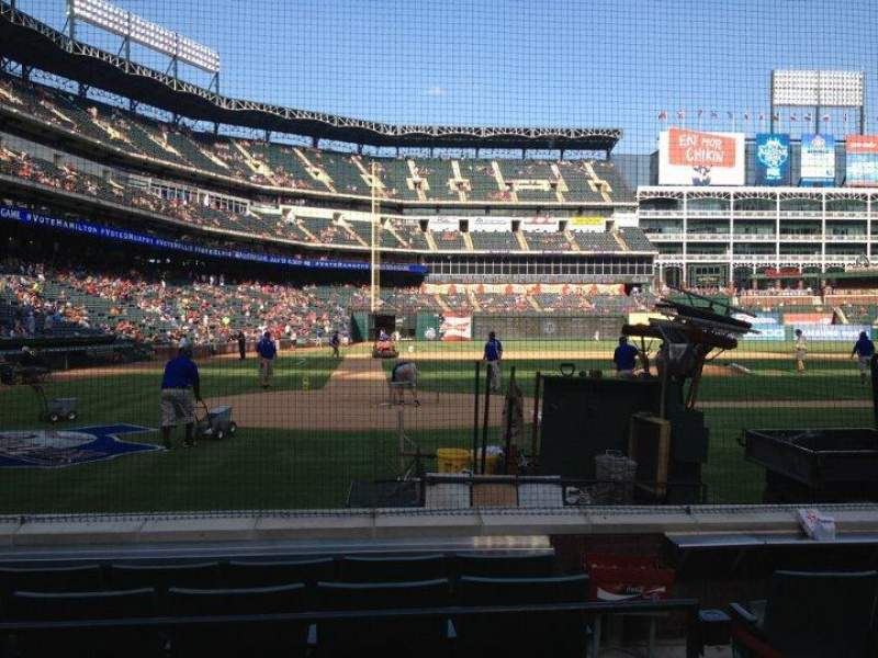 Seating view for Globe Life Park in Arlington Section 30 Row 4