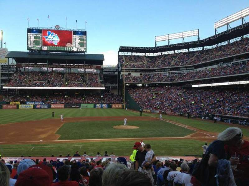 Seating view for Globe Life Park in Arlington Section 20 Row 24 Seat 18