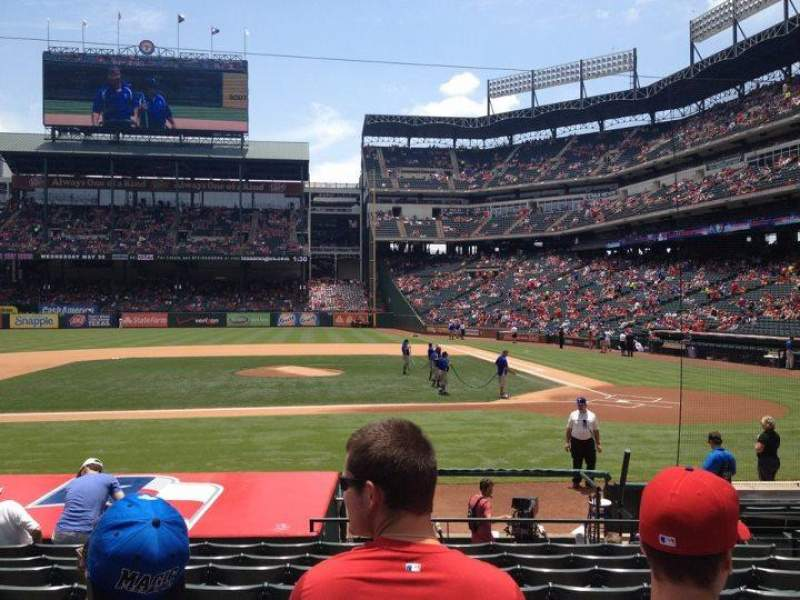Seating view for Globe Life Park in Arlington Section 20 Row 12 Seat 13