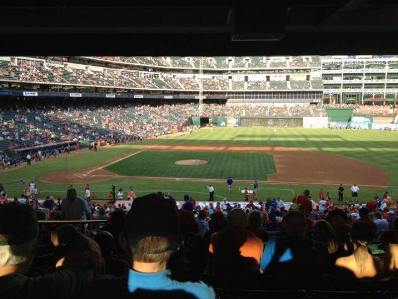 Seating view for Globe Life Park in Arlington Section 133 Row 38 Seat 16