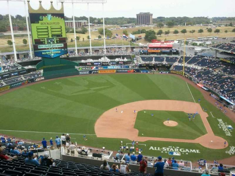 Seating view for Kauffman Stadium Section 212 Row VV Seat 19