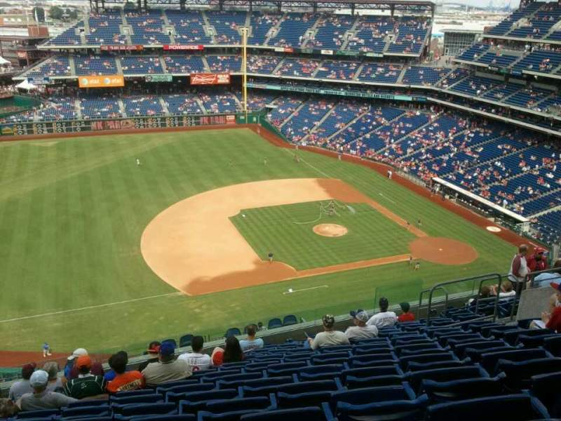 Seating view for Citizens Bank Park Section 428 Row  12 Seat  13
