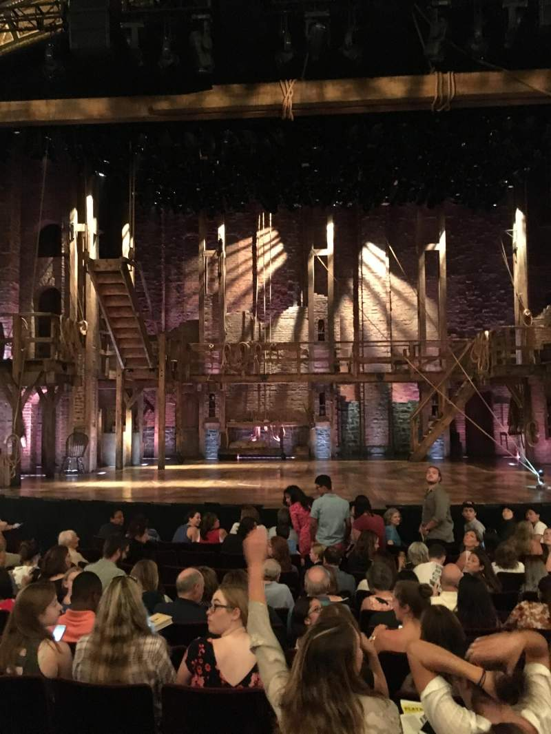 Seating view for Richard Rodgers Theatre Section Orchestra Row L107 Seat Center