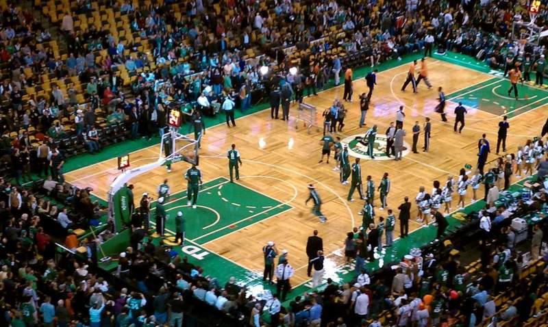 Seating view for TD Garden Section BAL 305 Row 13 Seat 16