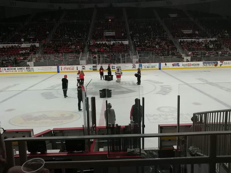 Seating view for Bojangles' Coliseum Section 123 Row G Seat 6
