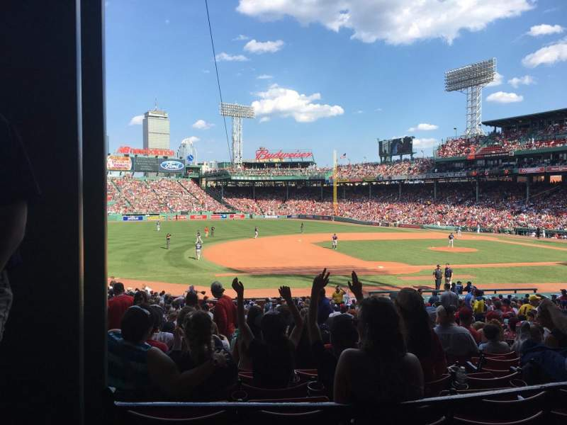 Seating view for Fenway Park Section Grandstand 27 Row 3 Seat 25