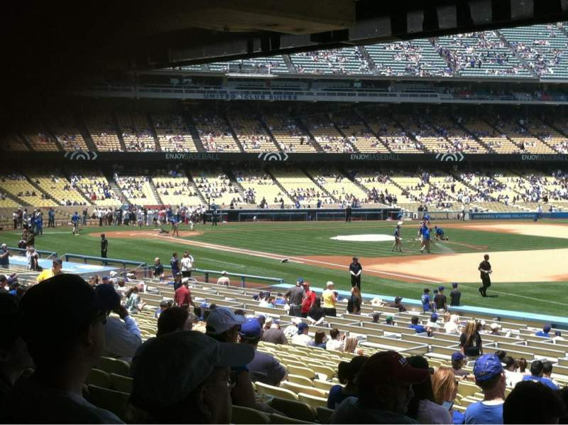 Seating view for Dodger Stadium Section 40FD Row X Seat 1-8