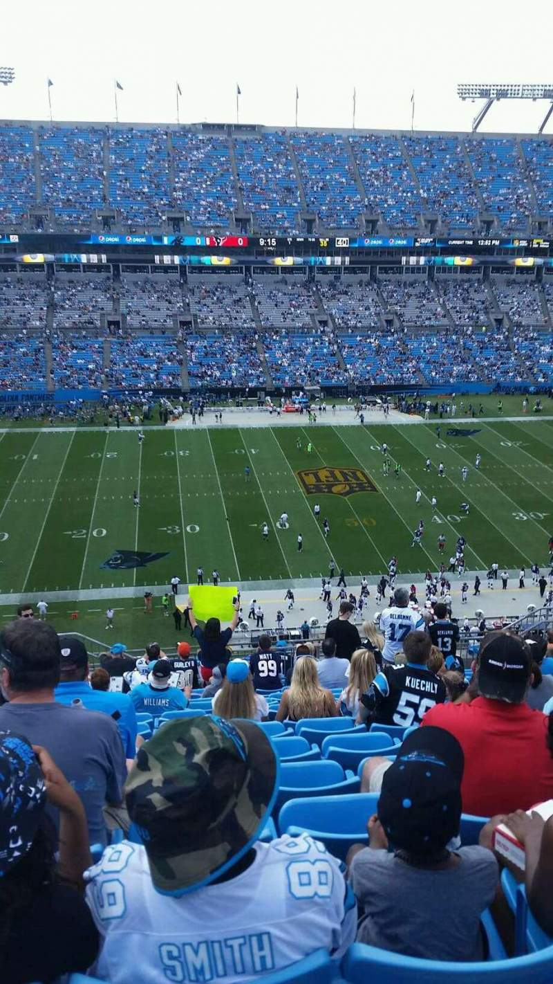 Seating view for Bank of America Stadium Section 516 Row 13 Seat 17