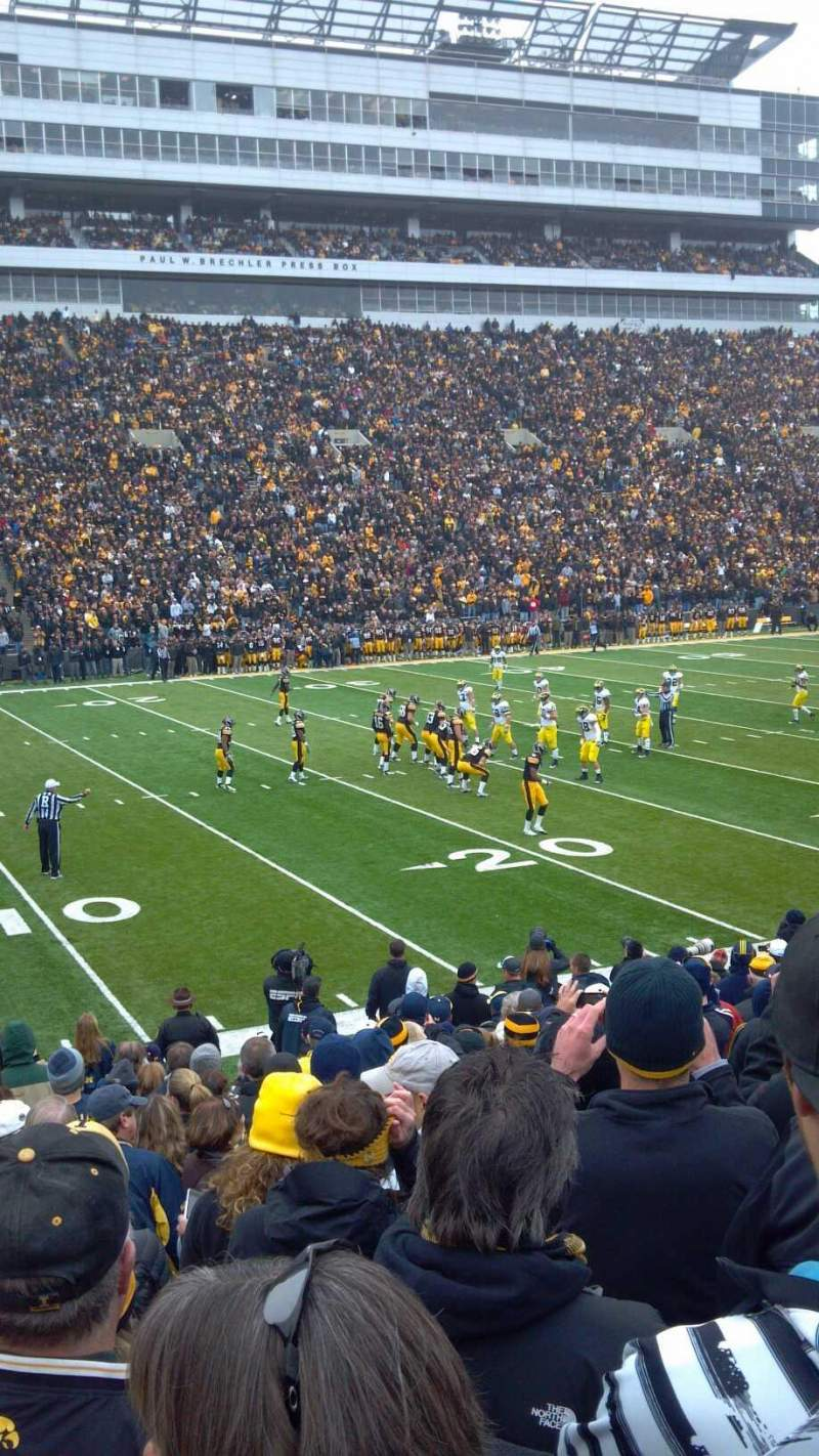 Seating view for Kinnick Stadium Section 108 Row 19 Seat 24