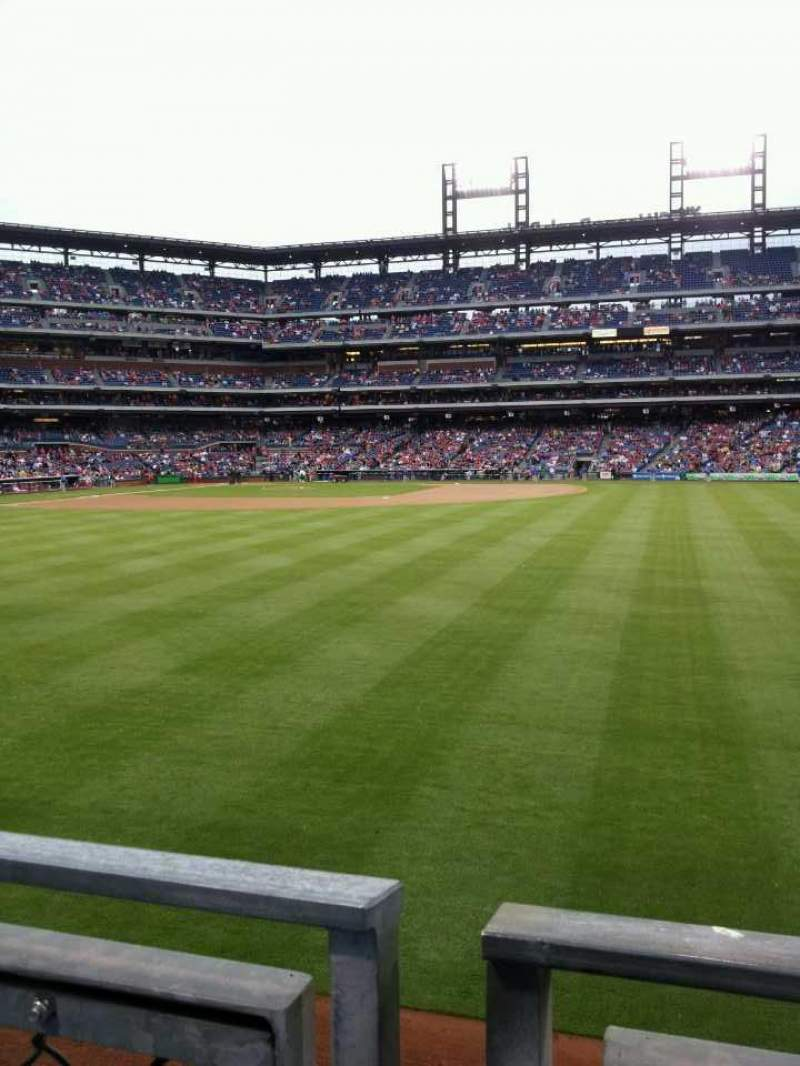 Seating view for Citizens Bank Park Section 102 Row 1 Seat 15
