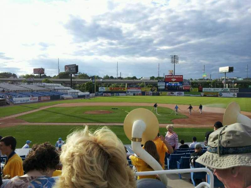 Seating view for Frawley Stadium Section C Row 2 Seat 9