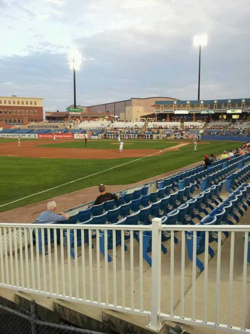 Seating view for Frawley Stadium Section 3rd Base Row Picnic