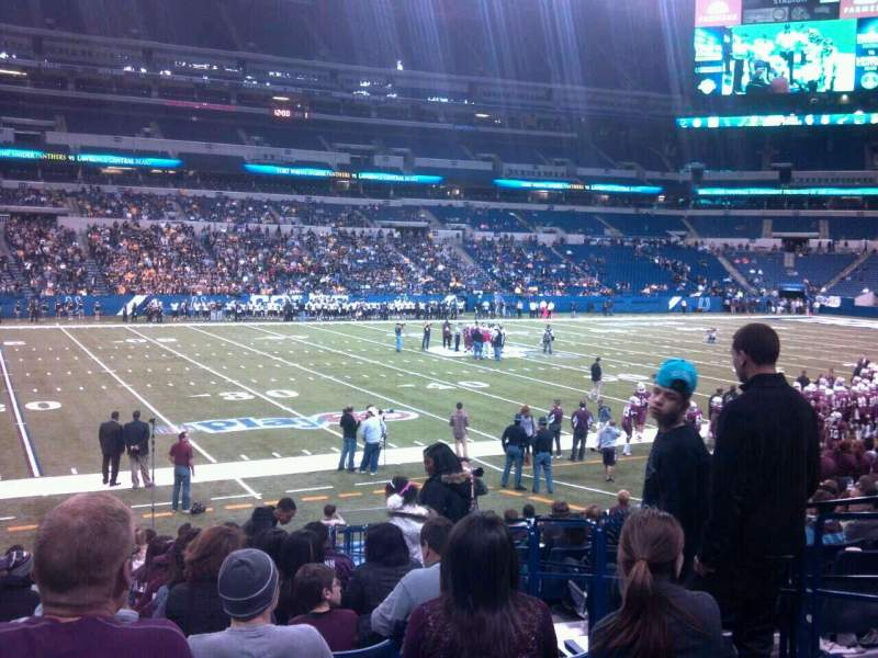 Seating view for Lucas Oil Stadium Section 143 Row 15 Seat 4